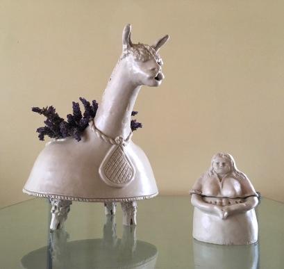 Llama bowl (large) & Lady sugar bowl