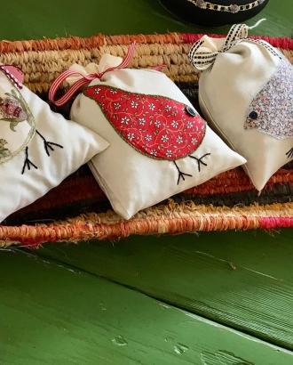 Jen's adorable lavender bags