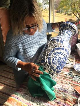 Jen in the workshop
