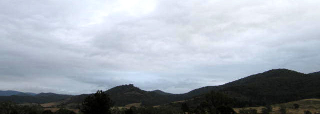 Grey skies