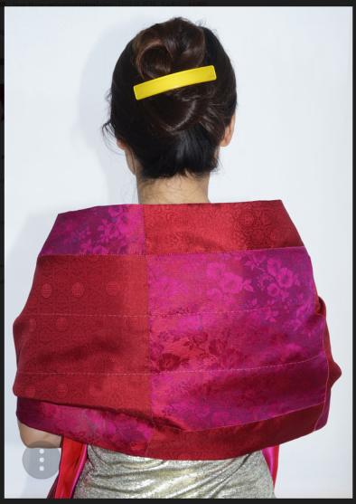 Sangmi's silk wrap