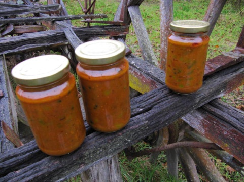 sweet'n'sour green tomato chutney
