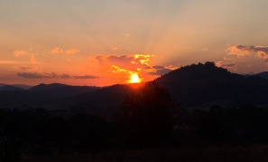 Late winter sunset
