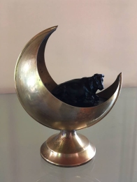 Megan Bottari, Asylum (the emigre), lost wax cast Australian lead crystal, found object